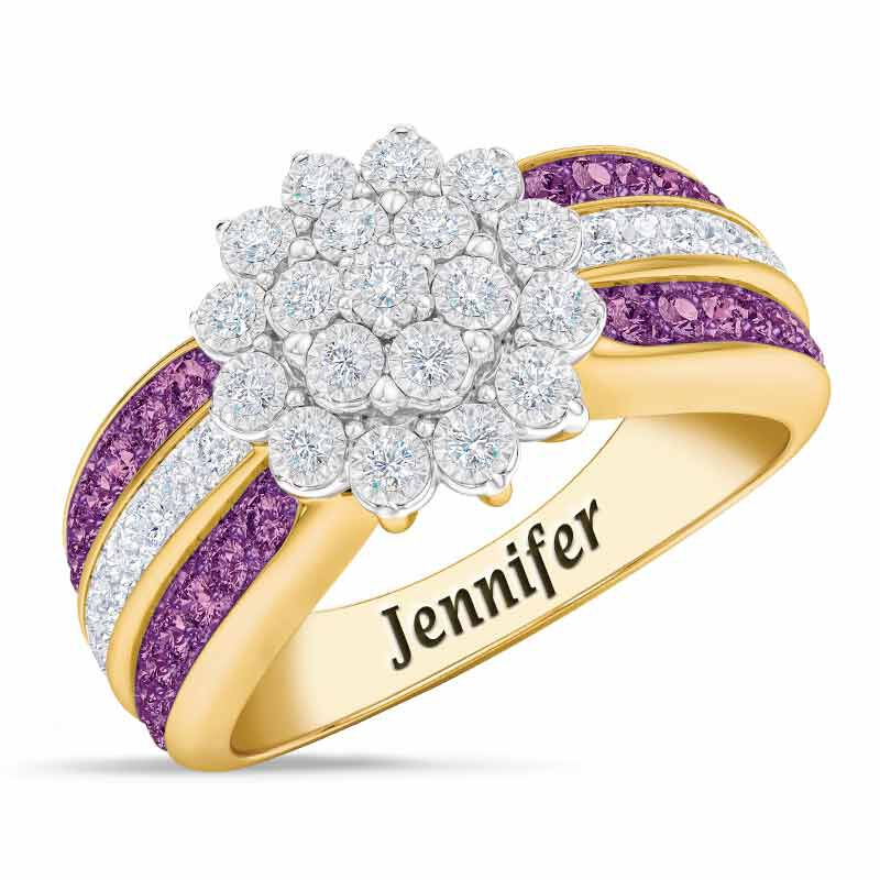 Personalized Birthstone Radiance Ring 5687 003 3 2