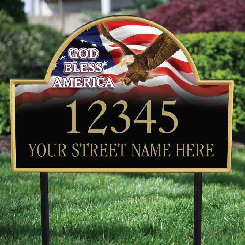 God Bless America Personalized Address Plaque 1092 003 1 2