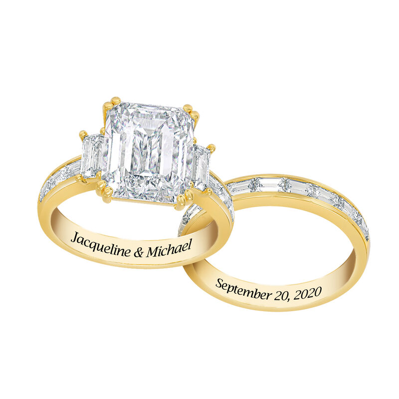 Personalized Then Now Forever Ring Set 10304 0010 b sidebyside