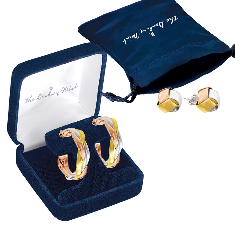 Healthy Wealthy and Wise Copper Earring Set 6363 0024 g gift pouch