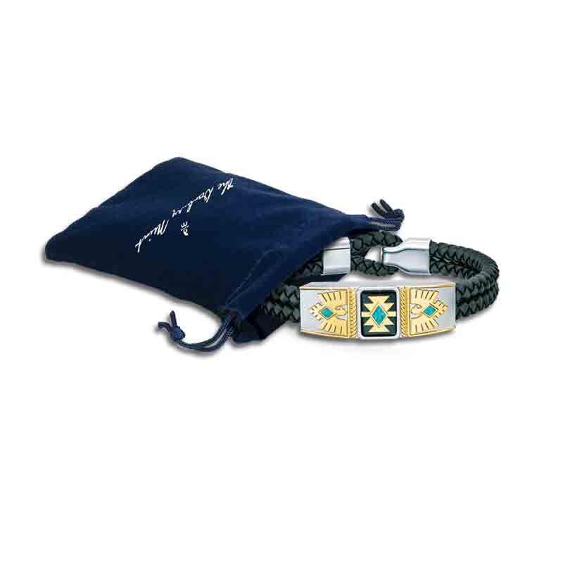 Grandson Southwest Leather Bracelet 4968 001 0 3