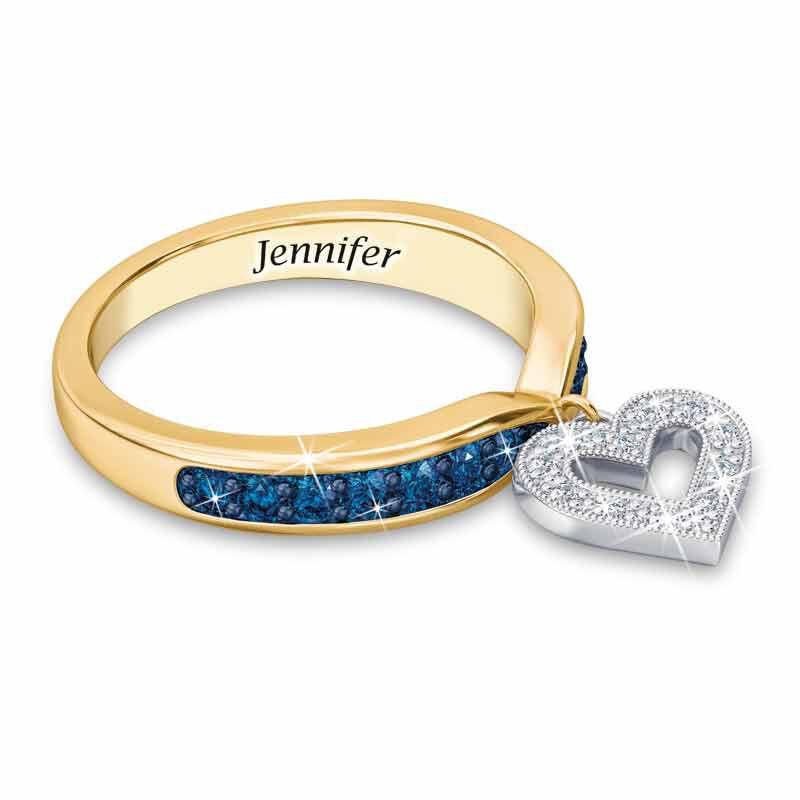 Birthstone  Diamond Charm Ring 2145 002 8 9