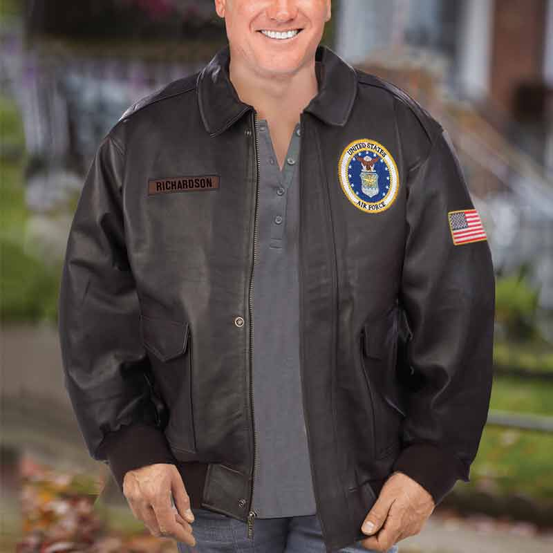 The Personalized USAir Force Leather Bomber Jacket 5905 003 9 3