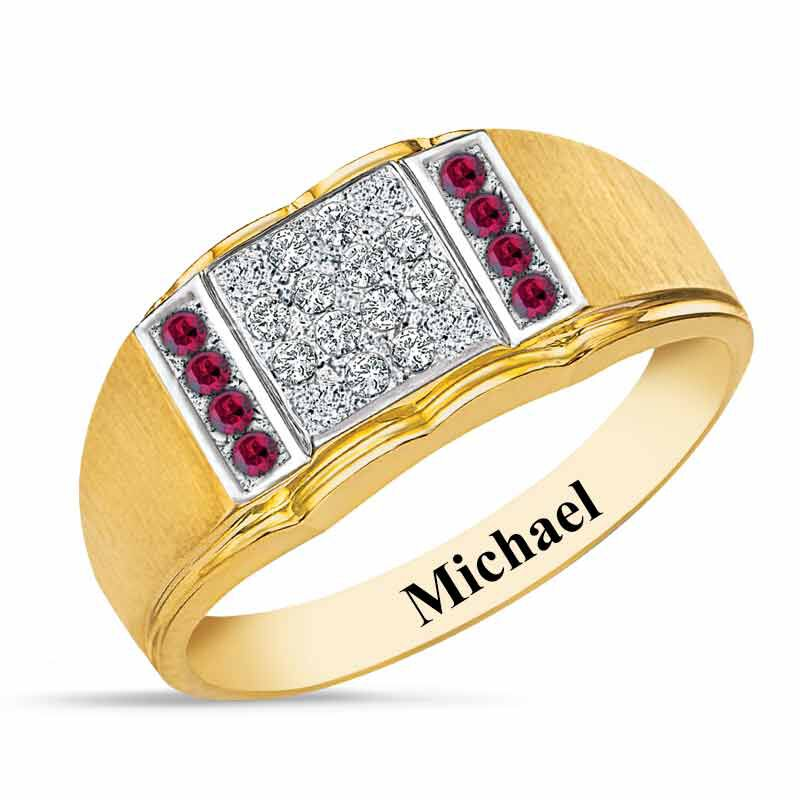 Birthstone Diamond Ring 5211 001 2 7