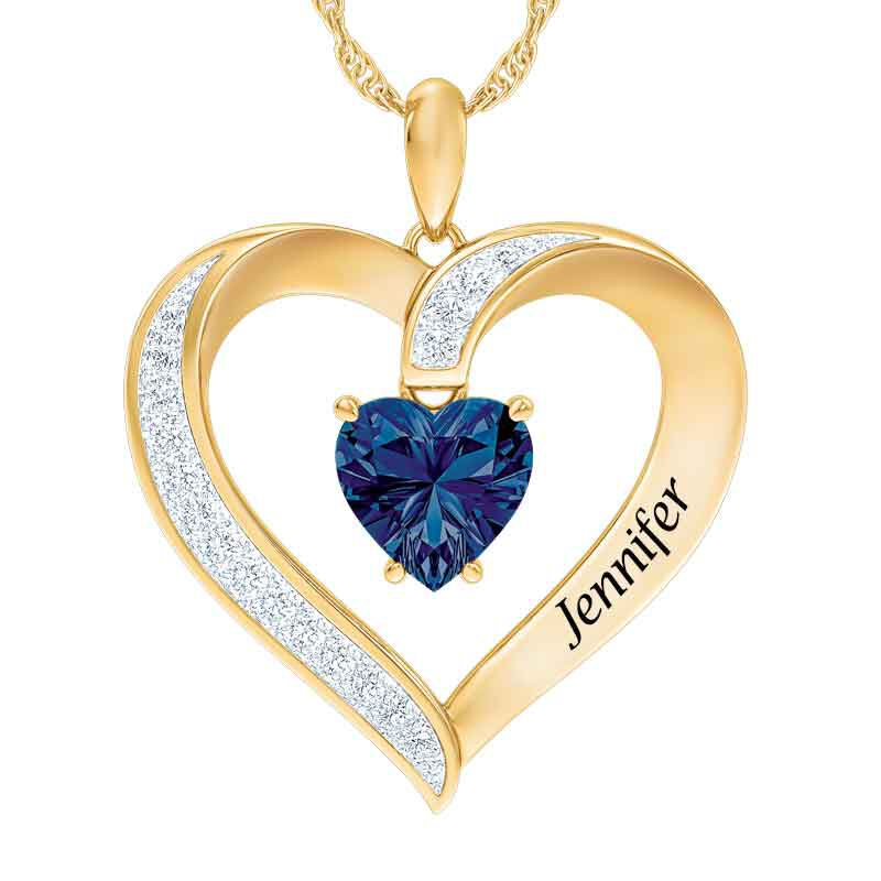 Personalized Birthstone Heart Pendant 5447 001 8 9
