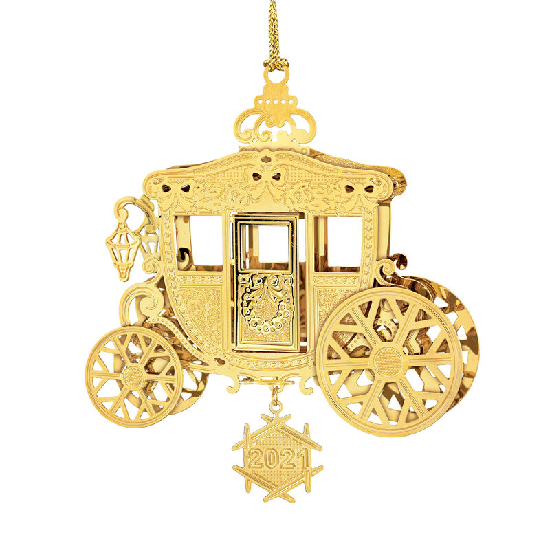 2021 Gold Christmas Ornament Collection 2798 0028 i stagecoach
