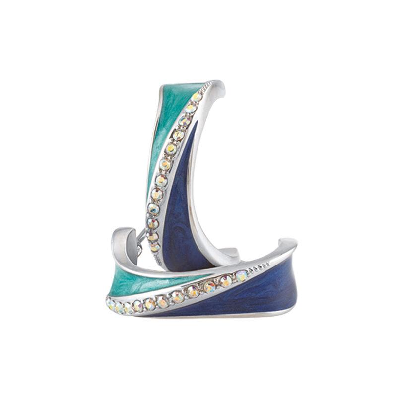 Blue Wave Earring Set 6723 0011 c earringset two