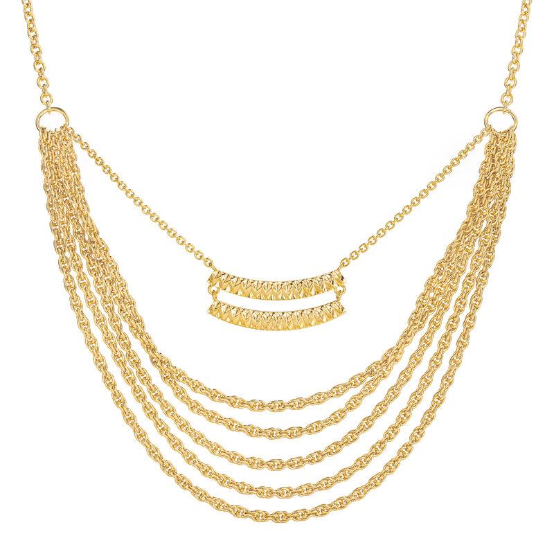 Sunburst Diamond cut Statement Necklace 6899 0019 a main