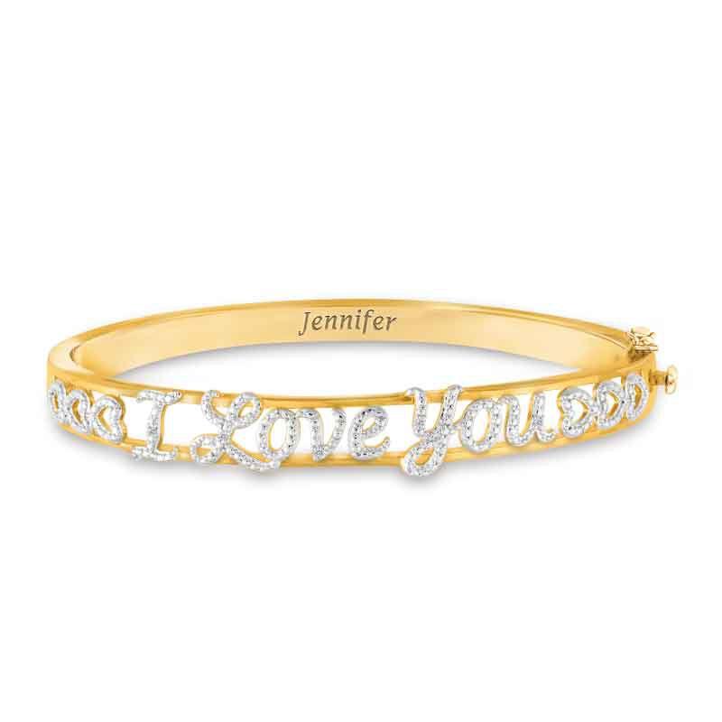 I Love You Personalized Diamond Bangle 1650 001 9 1