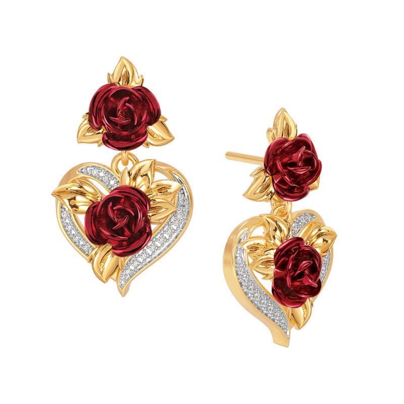 A Dozen Roses Heart Necklace Earring Set 10244 0013 c earring