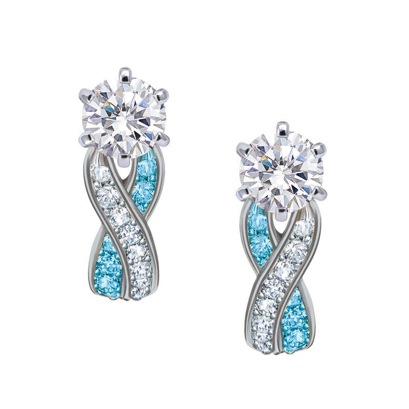 Birthstone Swirl Earrings 10115 0027 l december