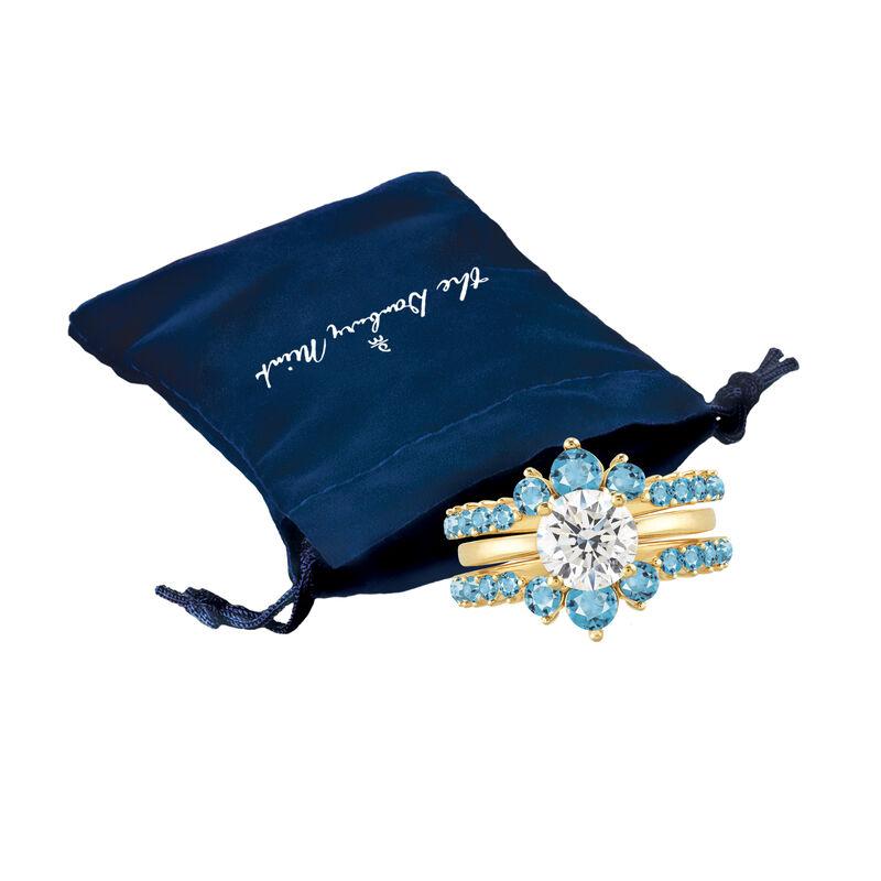 Birthstone Ring Set 6214 0017 n gift pouch