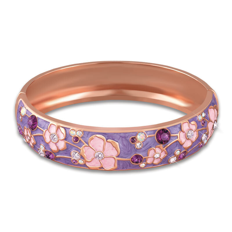 Cherry Blossoms Copper  Magnet Bangle 1440 001 4 1