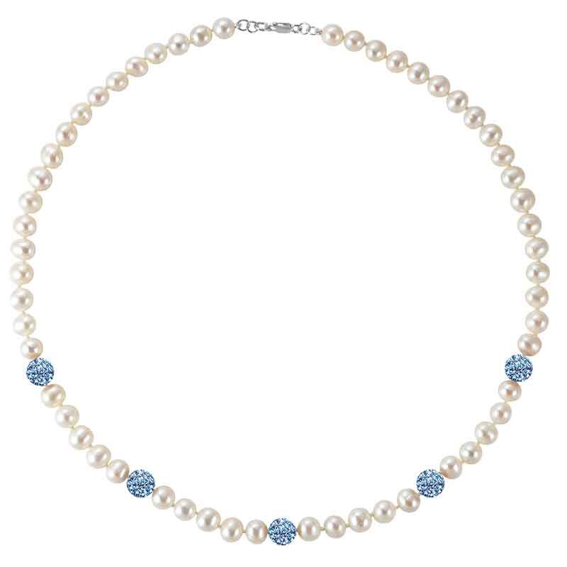 Bedazzled with Birthstones Pearl Necklace 5106 001 0 13
