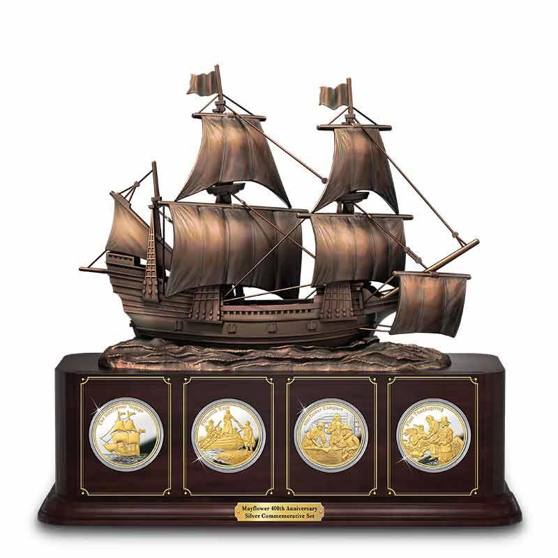 The Mayflower 400th Anniversary Silver Bullion Commemorative Set 6699 001 1 1