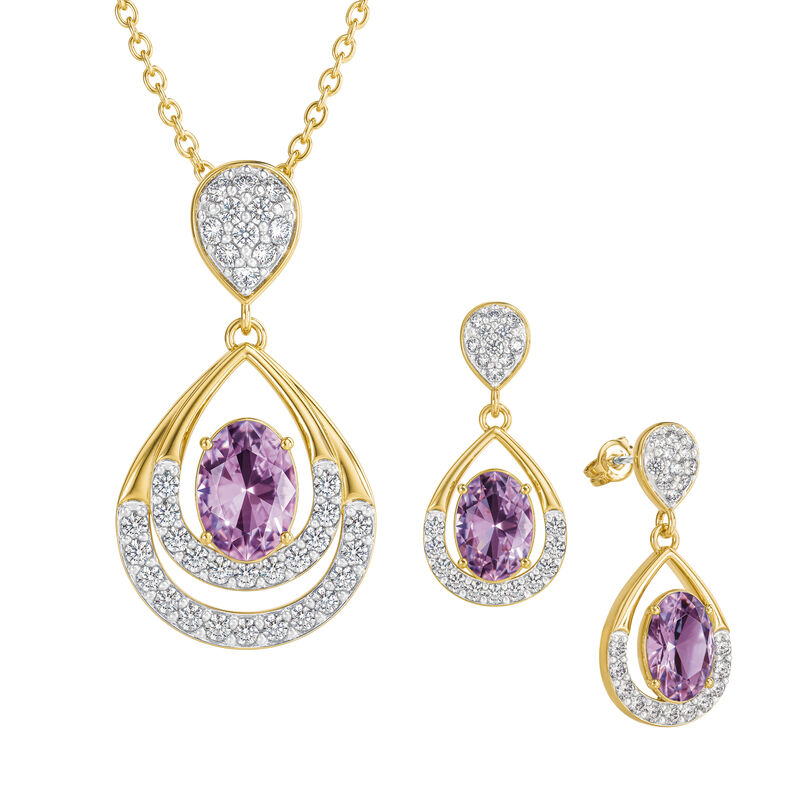Birthstone Necklace Earring Set 6930 0010 f june