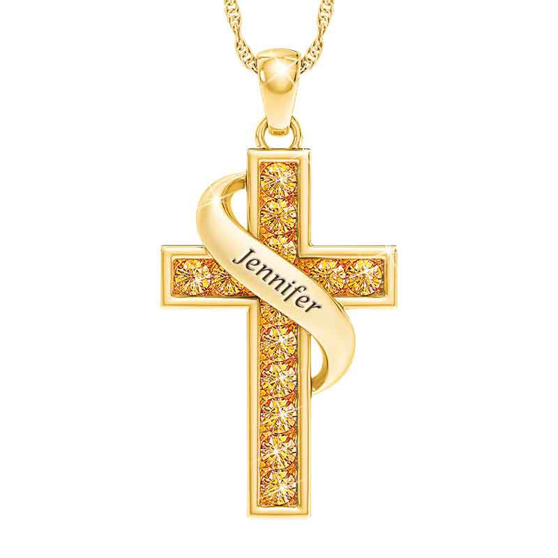 Personalized Birthstone Cross Pendant 5657 001 3 11