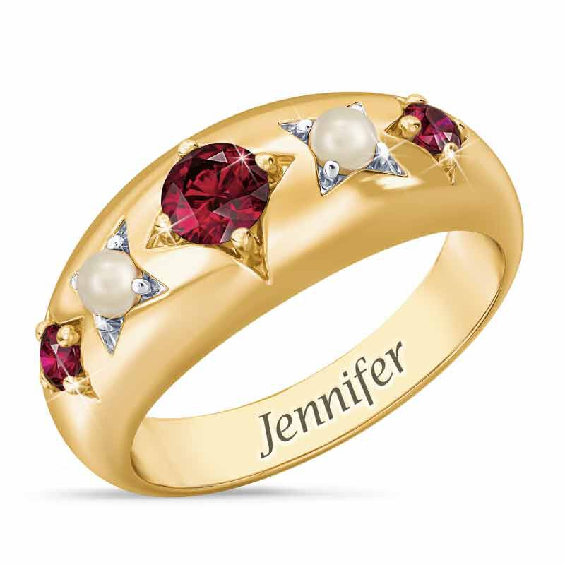 Royal Radiance Personalized Birthstone Ring 1906 001 1 7