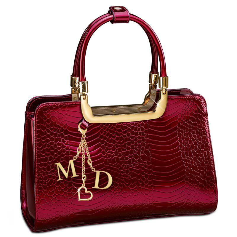 Ruby Red Genuine Leather Handbag 5619 001 0 1