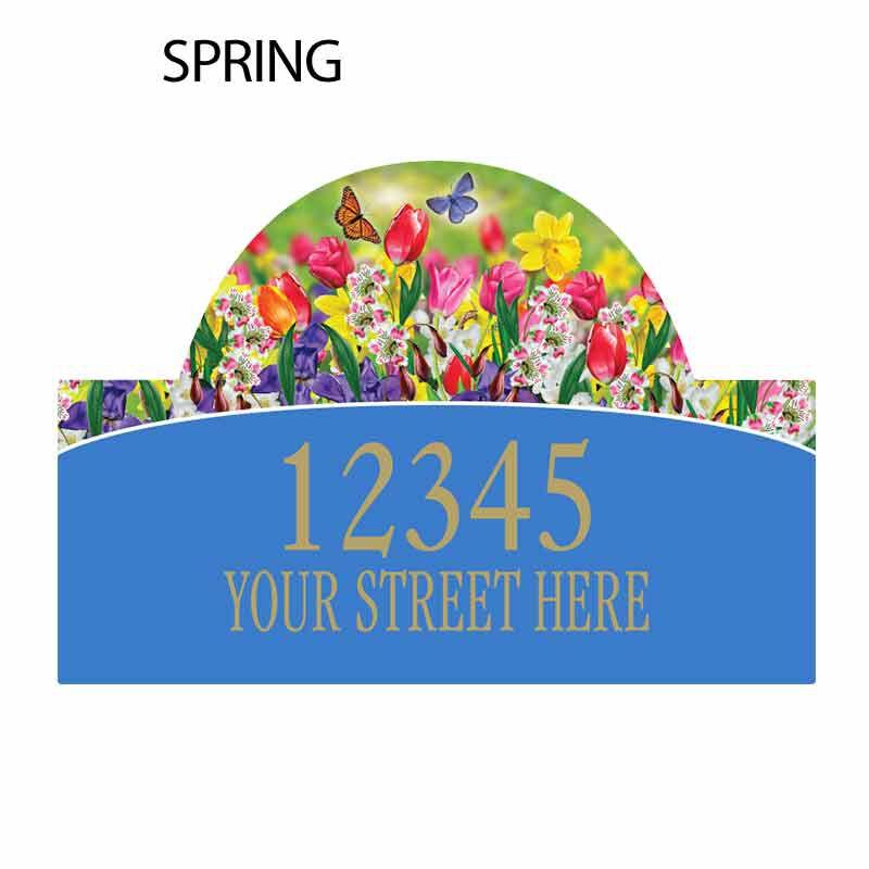 Seasonal Sensations Personalized Address Plaque 1919 002 4 5