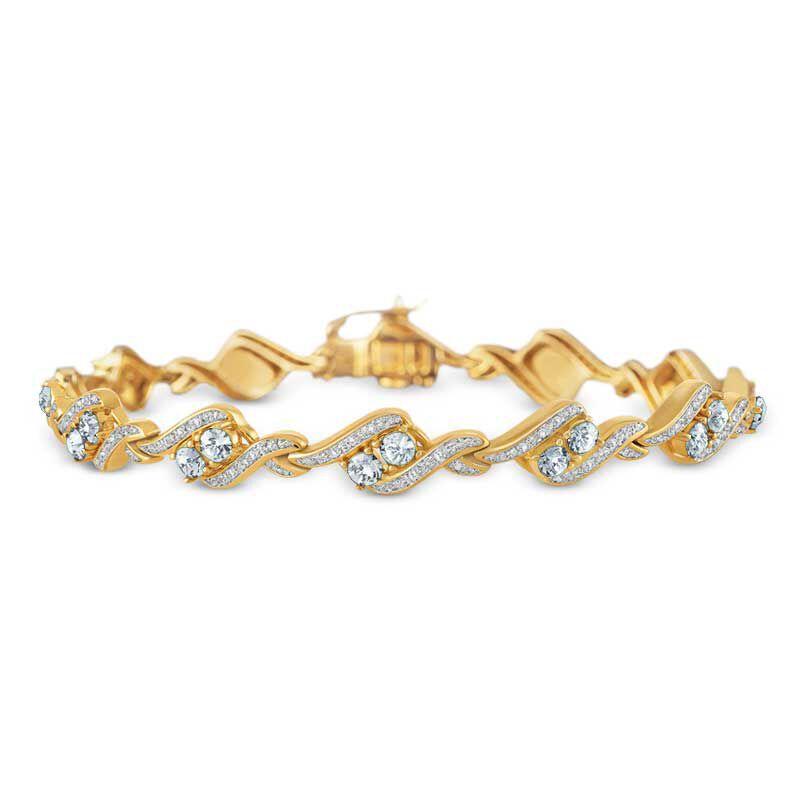 Birthstone  Diamond Bracelet 6321 001 7 4