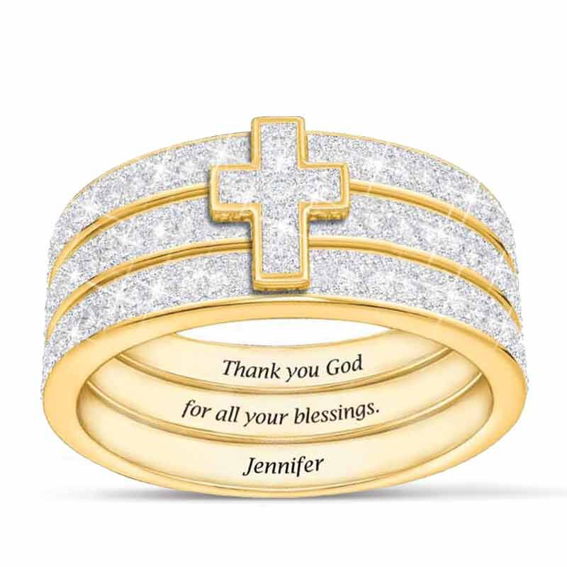 Blessed Stackable Diamond Ring Set 5279 002 9 1