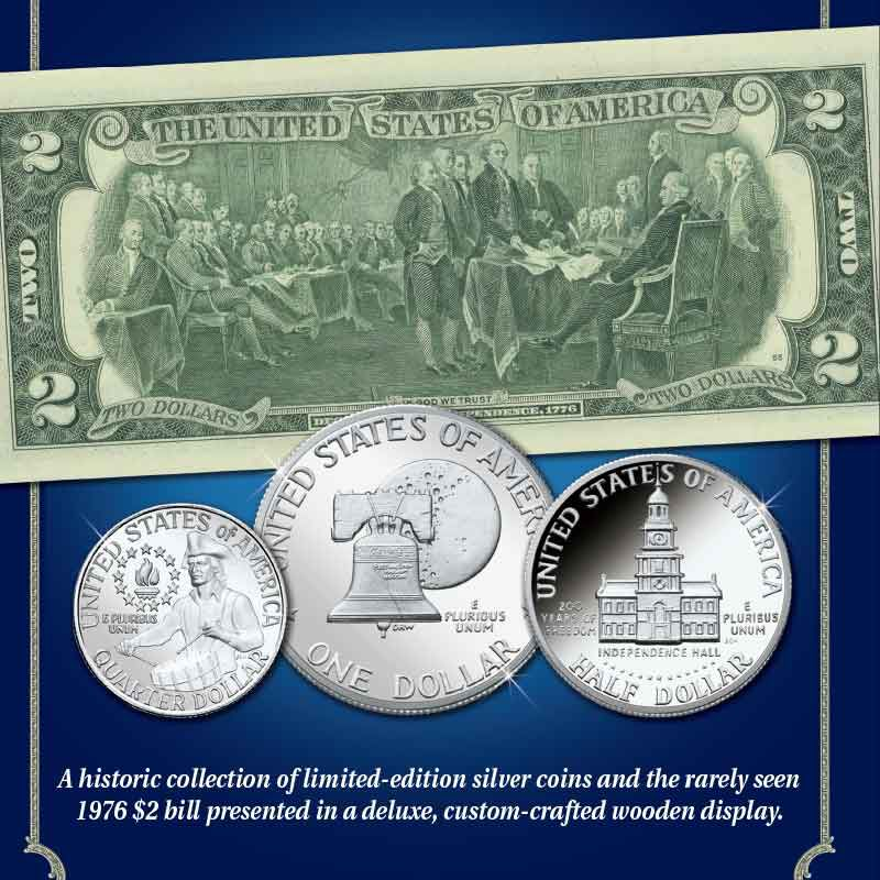 The Complete Bicentennial Silver Coin and Currency Set 6391 001 2 3