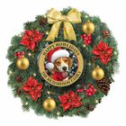 Happy Howlidays Personalized Lighted Christmas Wreath 1316 003 1 1