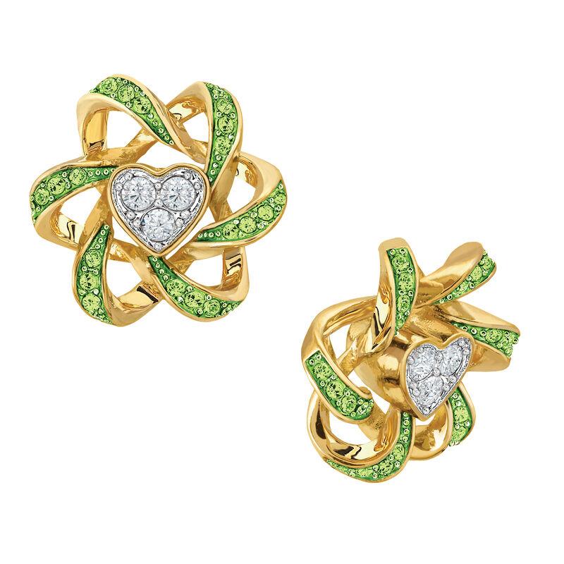 Birthstone Beauty Heart Earrings 2627 0066 h august