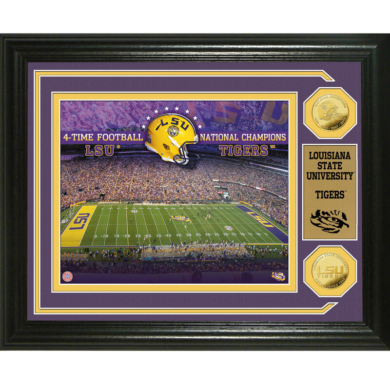 LSU Tigers 4 Time Football National Champions Frame 4393 0411 a main