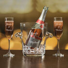 The Personalized Couples Champagne Set 10036 0023 f pink bottle