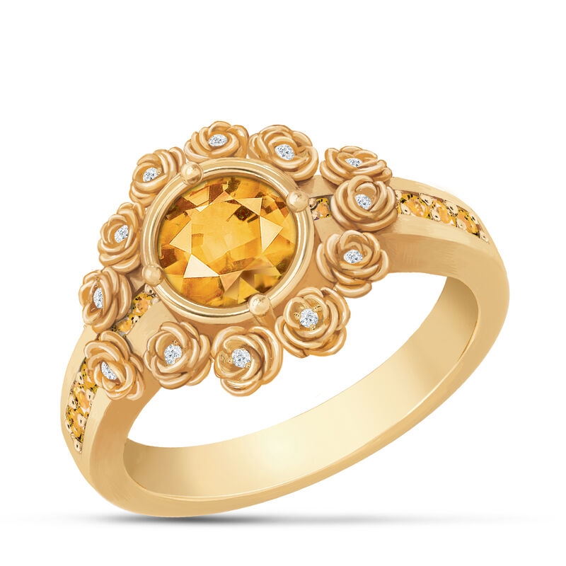 A Dozen Roses Birthstone Diamond Ring 6874 0018 k november