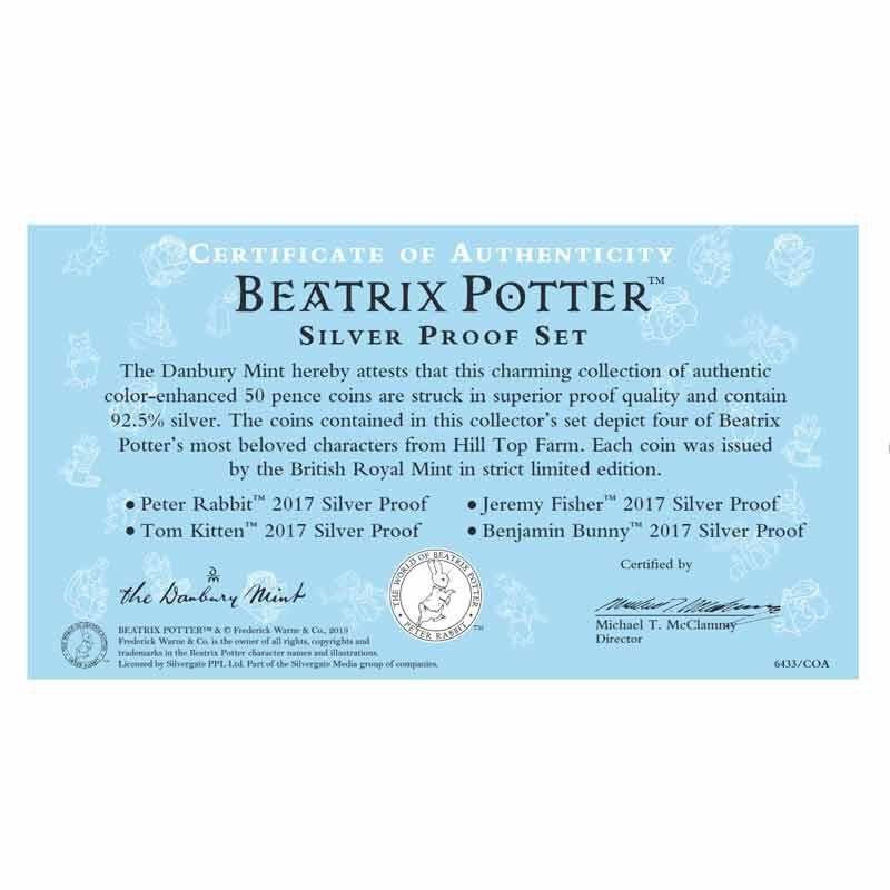 Beatrix Potter Silver Proofs 6433 001 2 4