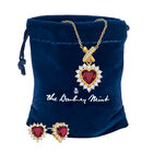 Perfectly Paired Heart Pendant and Earring Set 6574 0011 g pouch