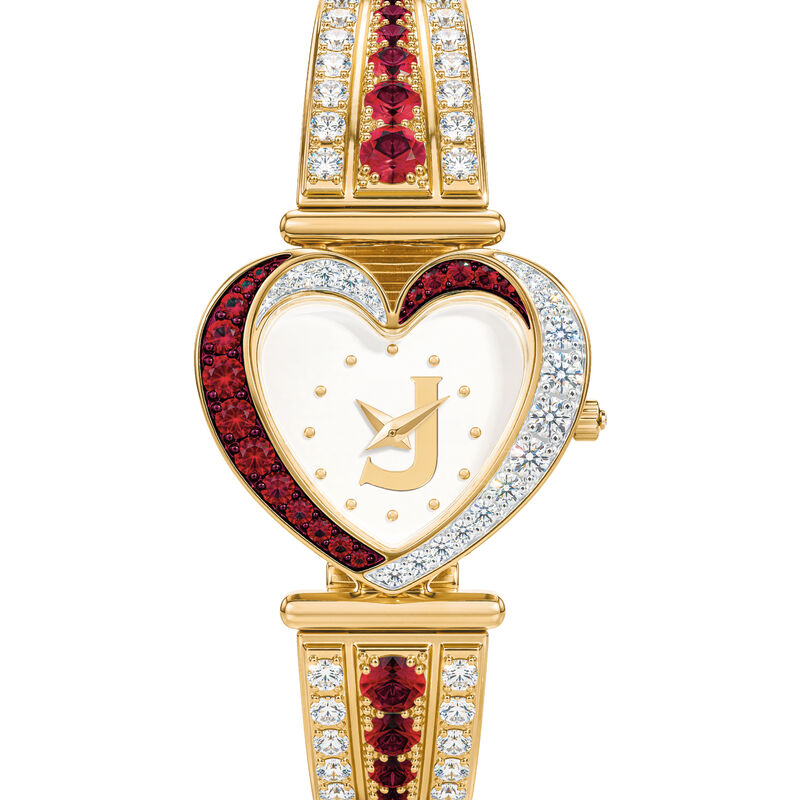 Womens Birthstone Initial Heart Watch 10332 0016 a main