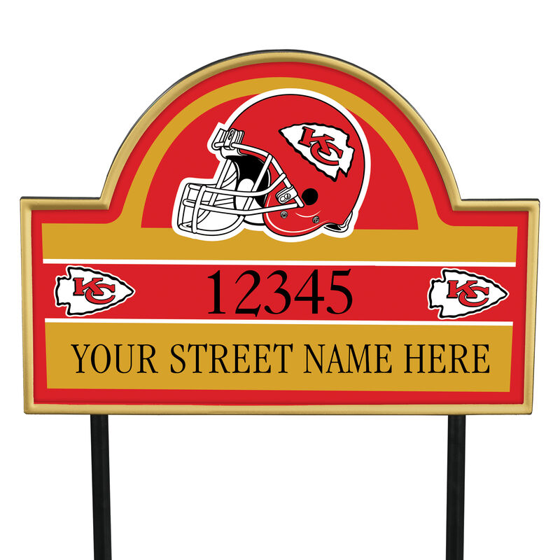 NFL Pride Personalized Address Plaques 5463 0405 a chiefs
