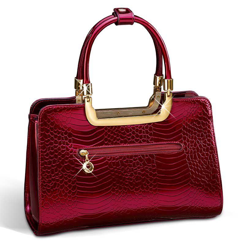 Ruby Red Genuine Leather Handbag 5619 001 0 3