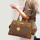 Personalized Initial Brown Handbag 1040 001 8 6