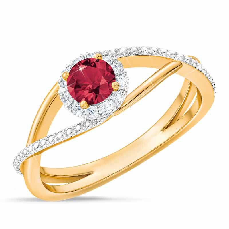 Birthstone  Diamond Ring 1099 001 8 7
