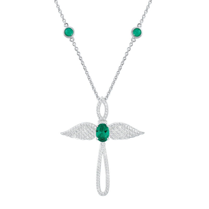 Touched by an Angel Birthstone Necklace 6842 0017 e may