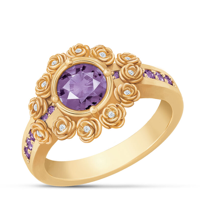 A Dozen Roses Birthstone Diamond Ring 6874 0018 b february