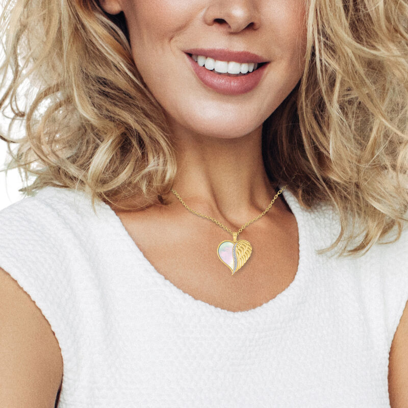 Angels are With You Diamond Heart Pendant 10424 0015 m model
