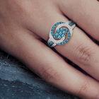 Simply Stunning Blue White Diamond Ring 6533 0011 m model