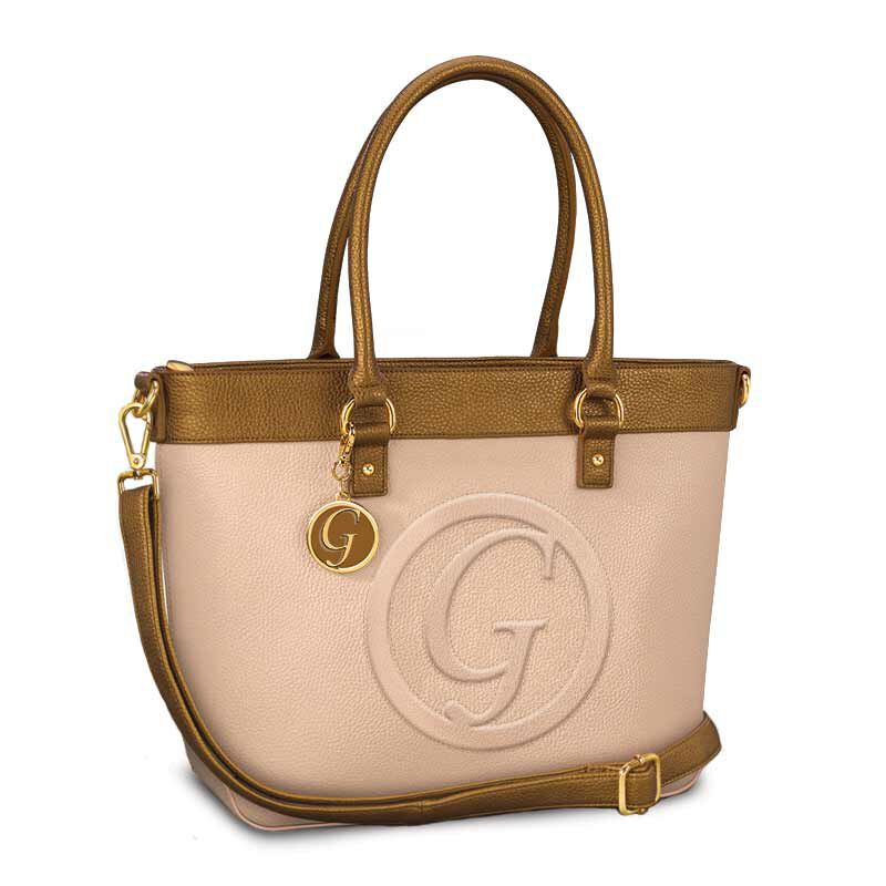 Signature Personalized Handbag   Cream 5829 001 6 6