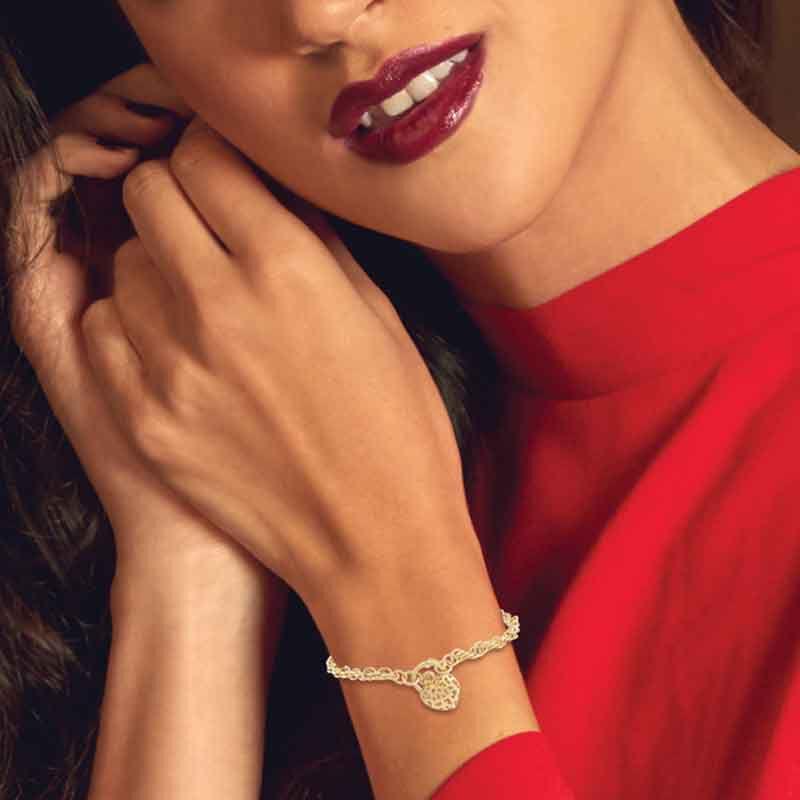 Lock of Love 14kt GoldAura Bracelet 6352 001 9 4