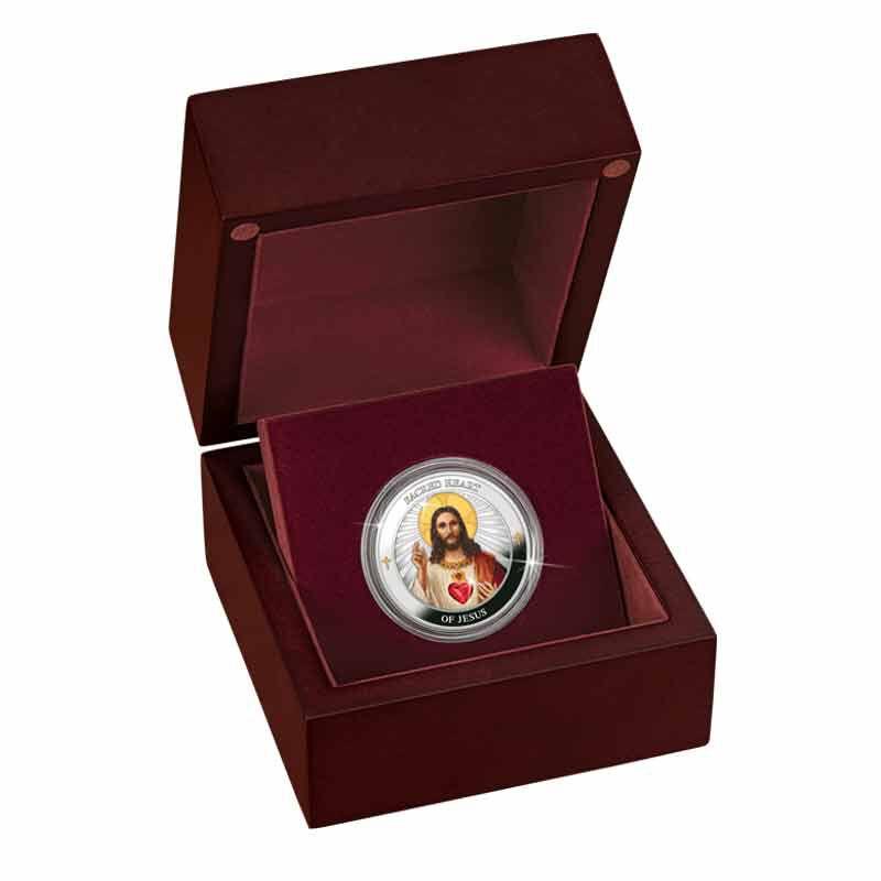 The Sacred Heart of Jesus Silver Medallion 2166 001 4 2