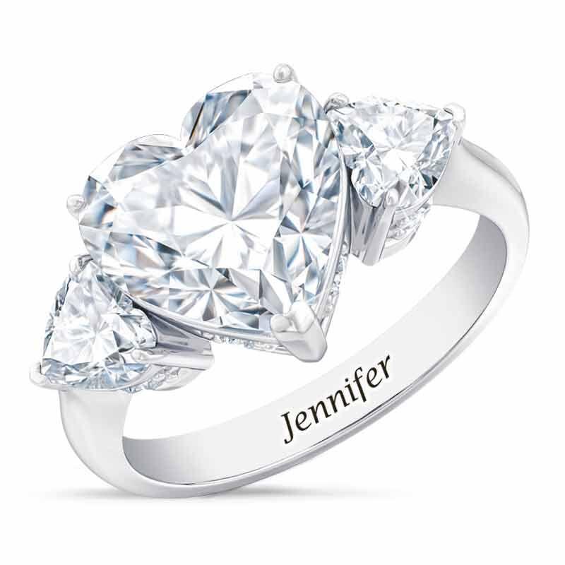 Birthstone Triple Heart Ring 1516 001 3 4