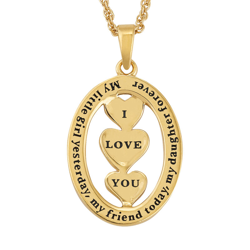 My Daughter I Love You Personalized Diamond Pendant 2965 0165 d reverse pendant