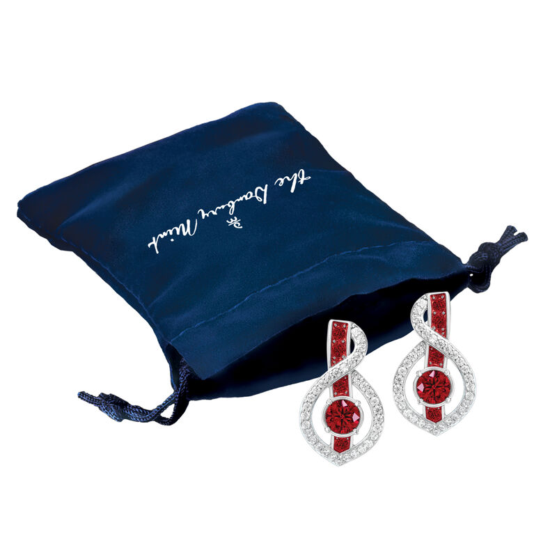 Birthstone Wave Earrings 2202 0069 n gift pouch
