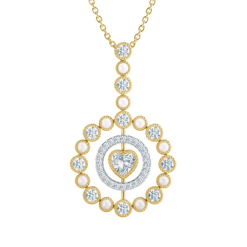 Love Embrace Birthstone Diamond Necklace 6928 0014 d april